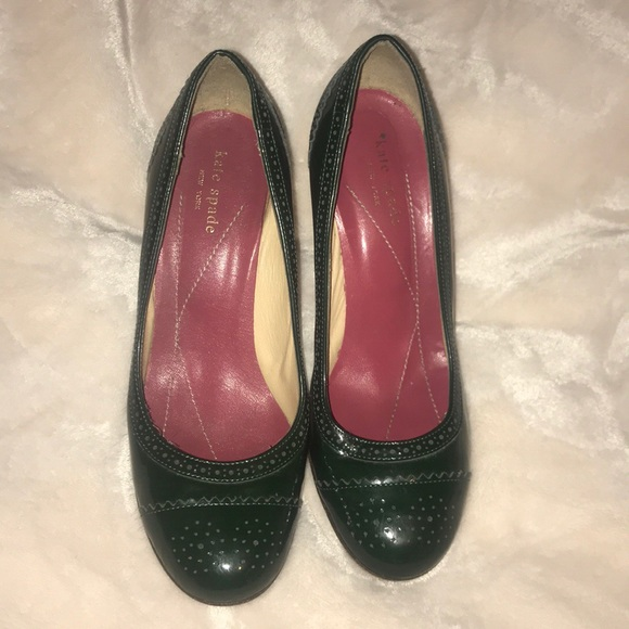 b28a7574792f kate spade Shoes - Kate Spade Kelley Forest Green Patent Pumps